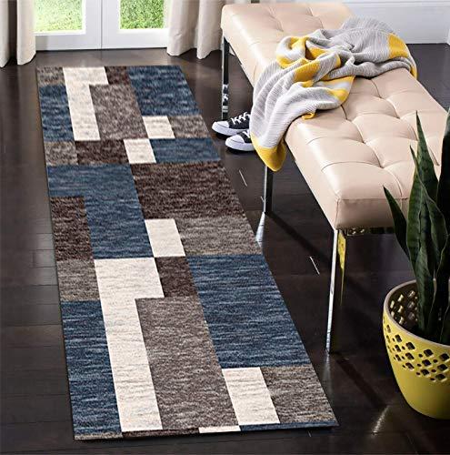 Korridor Teppich- Flur Läufer Teppiche Geometric, Washable, Breite 60cm / 80cm / 100cm / 120cm erhältlich, Länge Anpassbare (Size : 60×200cm)
