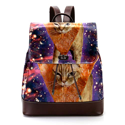 Casual PU Leather Backpack for Men, Women's Shoulder Bag Students Daypack for Travel Business...