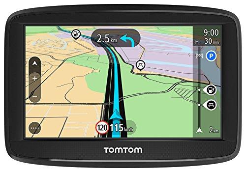 TomTom GPS para coche Start 42, 4 pulgadas, mapas de la UE, prueba gratuita de alerta de radares, soporte reversible integrado