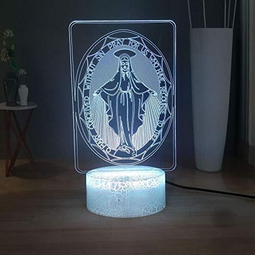 Cristianismo Luz De La Noche Del En 3D Lámpara Led Nightlight Para Ni