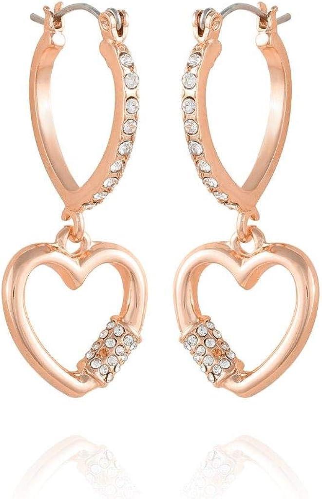 hoop earring with heart charm