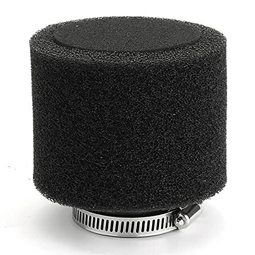 Nuevo filtro de aire de la esponja de la esponja de la motocicleta del cuello recto negro de 35 mm (Color : BLACK)