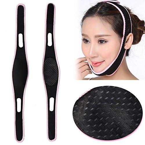 Face-liftmasker, V-lijnmasker Massage-shaper Gezichtsvermagering Kin-nek Lift-up Dubbele kinverkleiner Bandagecorrectie Riem Contourlifting Verstevigend Hydraterend masker.