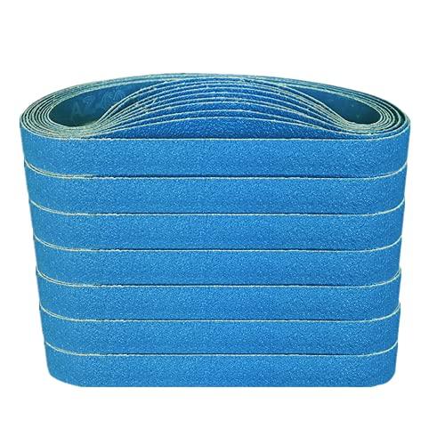 FEIHU Bandas de Lija 10x330 mm 5 tipos de grava mixta (cada6x40/80/120/180/320).Juego de cintas lijadoras,para lijadoras de banda | madera | pulido de metales (30 piezas)