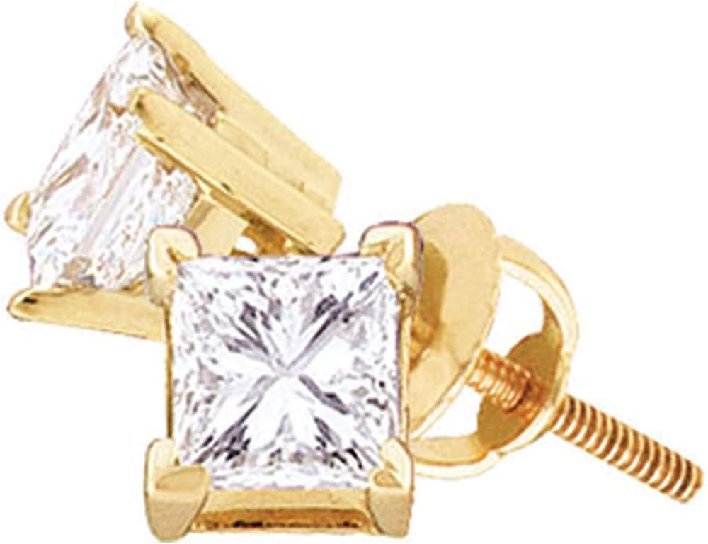 Jewels By Lux 14K Yellow Unisex Princess Discount is also underway Max 90% OFF Diamond Gold Solitaire