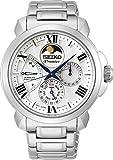 Seiko SRX015P1 Reloj Seiko Premier Kinetic Direct Drive Caballero Acero con blanco for Hombre, Gris, Hombre Estándar