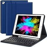 iPad 9.7 Keyboard Case Compatible 2018 New iPad(6th Gen)/2017 iPad(5th Gen)/iPad Pro 9.7/iPad Air 2/Air Detachable Wireless Keyboard Slim Folio Stand Cover - 9.7 inch Blue