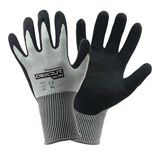 Evilandat Wonder Grip WG 787 Schnittschutz Arbeit Handschuhe Nitril EN388 Stufe 5 Schutz