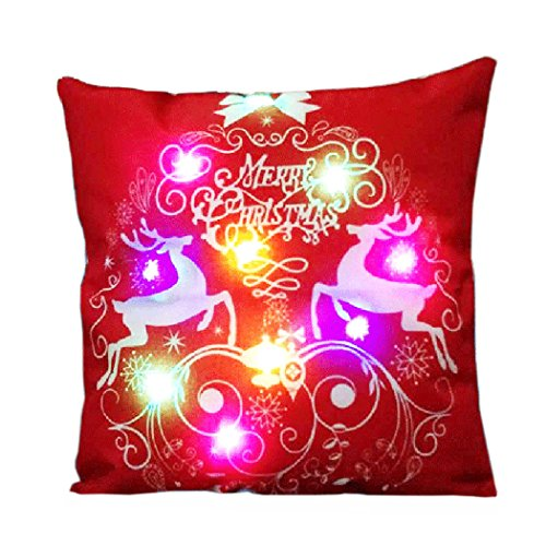Reindder Light Up Christmas Cushion Cover
