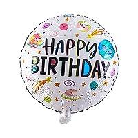WZZA 赤ちゃんのための10 18インチラウンド英語幸せな誕生日アルミフィルムの風船1歳の誕生日パーティーデコレーション風船 誕生日風船 (Ballon Size : 18inch, Color : Light Green)