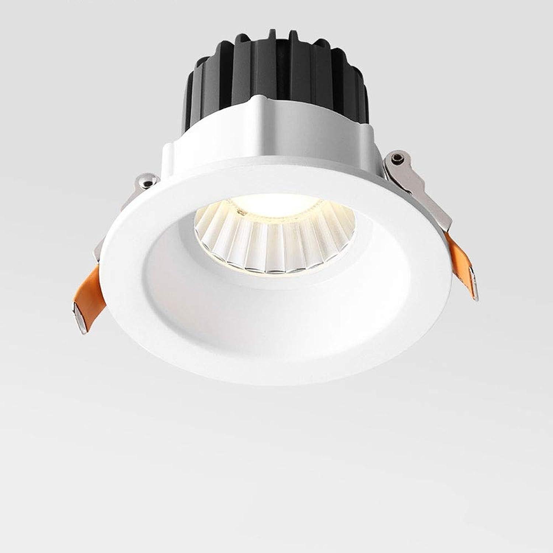 Modenny 7W IP65 impermeable rojoondo Empotrable Foco empotrable empotrable empotrable LED Lámparas de techo de aluminio antirreflejos Focos de energía Ahorro de energía Comercial Cocina Pasillo Salón Corrojoor Iluminación de  Las ventas en línea ahorran un 70%.