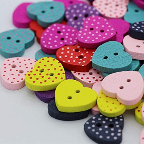 QWERTYU Craft Buttons 100 stks houten knoppen diy ambacht voor kinderen kleding naaien accessoires voor baby meisje kleding zomerjurk Scrapbooking ambacht LIJIANME