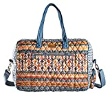 Maison d' Hermine Ikat 100% Cotton Travel Duffel Bag Weekender Overnight Luggage Bag For Men Women Business Travellers Family Trip