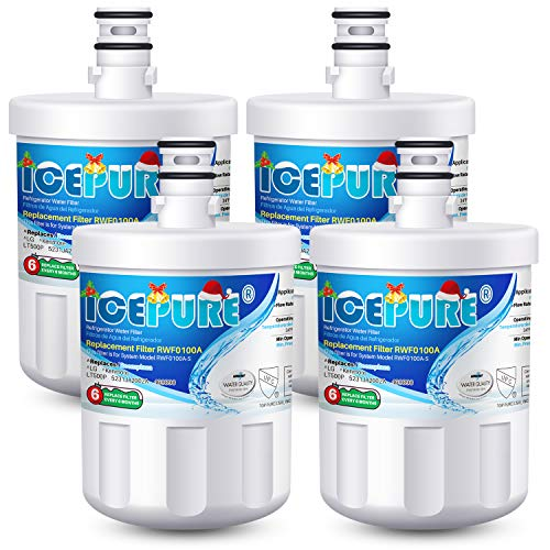 ICEPURE 5231JA2002A Refrigerator Water Filter,Compatible with LG LT500P, GEN11042FR-08, ADQ72910901, ADQ72910907, LFX25974ST, LFX25973S, Kenmore 9890, 469890 4PACK