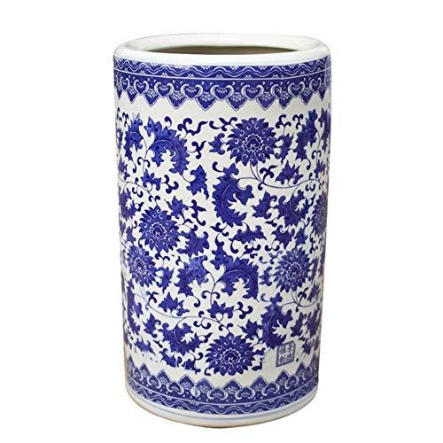 Paragüeros Paraguas De Cerámica De Estilo Tradicional con Perchero De Porcelana Azul Y Blanca, Soporte para Sombrilla De Decoración De Entrada De Oficina En Casa para Bastones/Bastones