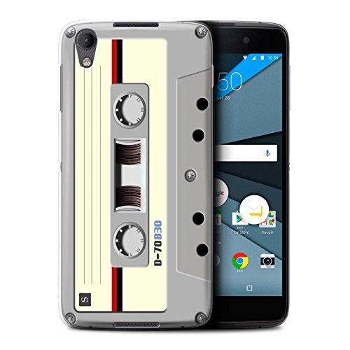 Stuff4® Hülle/Case für BlackBerry Neon/DTEK50 / Kompaktkassette Muster/Retro Techik Kollektion