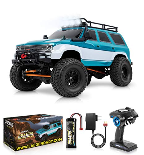 1:10 Scale Large RC Rock Crawler - 4WD Off Road RC Cars - Remote Control Car 4x4 Electric Truck - IPX5 Waterproof Trucks for Adults - RTR with 5Ch Remote, Battery and Charger