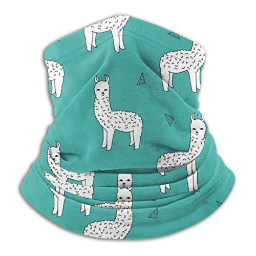 Mathillda Teal Alpacas Baby-halsband