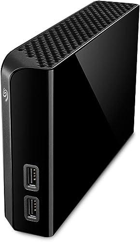 Seagate Backup Plus Hub 4 TB External Hard Drive Desktop HDD – USB 3.0, 2 USB Ports, for Computer Desktop Workstation...