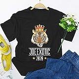 LXHcool Rey Tigre Camiseta Joe exótico zoológico Animal del león de la Cultura Popular de la Camiseta (Color : Black, Size : XS)