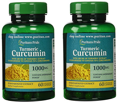 Puritans Pride 2 Pack of Turmeric Curcumin 1000 mg Puritans Pride...