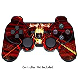 Skin Stickers for Playstation 3 Controller - Vinyl Sticker for DualShock 3 Wireless Game PS3 Controllers - Protectors Stickers Controller Decal - Skull Dark Red [ Controller Not Included ]
