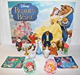 HappiToys Beauty and The Beast Movie Deluxe Figure Set of 14 Toy Kit with 10 Figures Featuring Belle, Beast, Gaston, Little Chip, Mrs. Potts, Cogsworth and More!