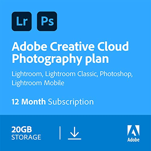 Adobe Creative Cloud Photography plan 20GB: Photoshop + Lightroom | 1 Year...