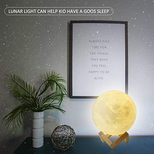 AMZLIFE 3D Printing Moon Light