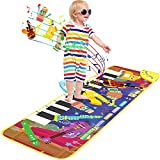 Kids Musical Piano Mats, Upgraded Soft Musical Dance Mat,Baby Early Education Portable Dance Music Piano Keyboard Carpet Musical Touch Play Game Toy Gifts for 1 to 5 Years Kids Toddlers Girls Boys.