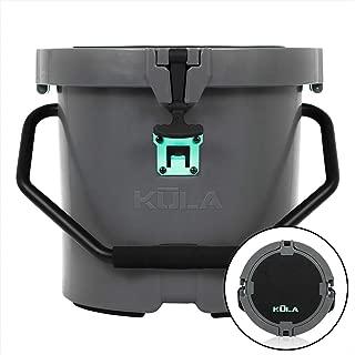 Kula 5 Gallon Cooler Graphite, Lightweight, Strong Insulation, Heavy Duty, Bucket, Seat