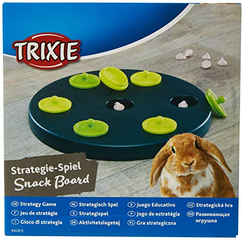 Trixie 62812 Kaninchen-Spiel Snack Board, Kunststoff, 20 cm - 3
