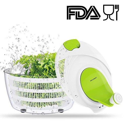 Sovkitchen - Escurridor de ensalada para ensalada (capacidad grande, sin BPA, fácil de girar para ensaladas Tastier y lavavajillas)