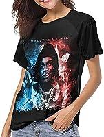 Ynw Melly Melly対メルビンベースボールTシャツガール夏のレジャー服のファッションショートスリーブTシャツ-X-Large