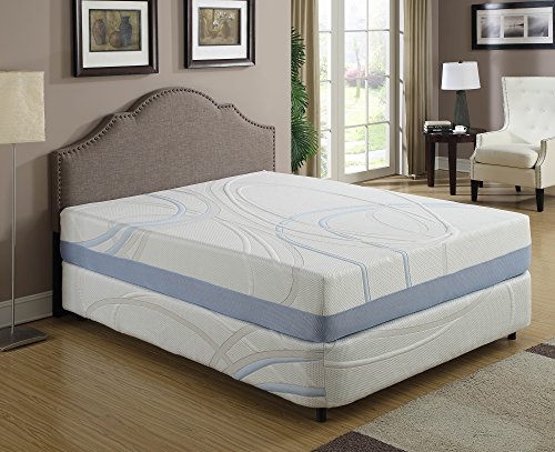 AC Pacific Eastern King Size Charcogel Gel Infused Memory Foam Mattress With Shape Contouring Features, Eastern King Size, White