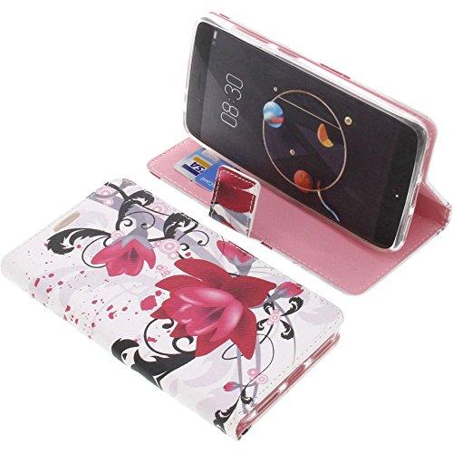 foto-kontor Tasche für Archos Diamond Alpha Book Style Lotus Blüte Schutz Hülle Buch