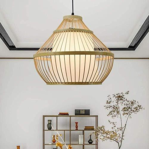 NZDY Lámpara Colgante de Bambú de Bambú Hecha a Mano Luz de Colgante Luz Moderna Habitación Sala de Estar Cocina Chandelier Restaurante Café Sala de Té Lámpara de Techo
