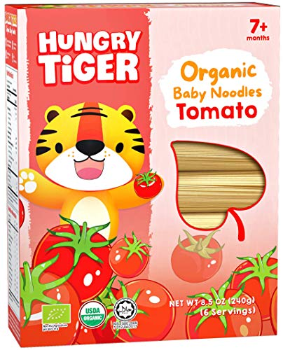 Hungry Tiger - Organic Baby Noodles Tomato 8.5 OZ (6 portions)