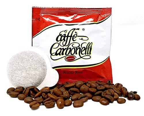 150 Cápsulas café Caffè Carbonelli forte - equilibrado sabor. Ese 44 mm