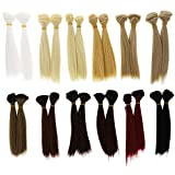 Bright Creations Doll Making Hair Wefts (24 Pack), 12 Colors