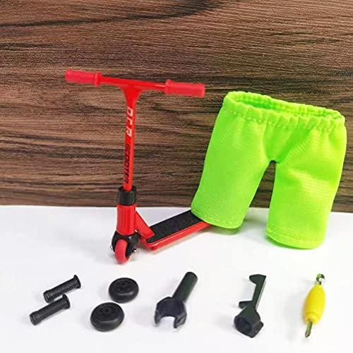 10 Stück/ 1 Set Fingerscooter Set mit Mini Scooters Werkzeug Metalllegierung Fingerscooter Mini Fingerscooter Interaktives Fingerspielzeug