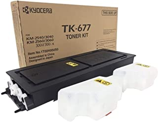 Best Kyocera 1T02H00US0 Model TK-677 Black Toner Kit Compatible with Kyocera KM-2540, KM-2560, KM-3040, KM-3060 and TASKalfa 300i Monochrome Multifunctional Printers; Up to 20000 Pages Yield Review