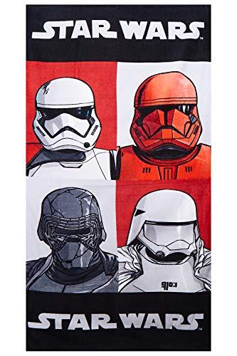 Toallas de 140 x 70 cm de Star Wars, Toallas de Playa, Toallas de baño Hechas de algodón 100%, Varios diseños con Motivos Bien conocidos de Las películas, para niños (Trooper, Kylo REN, Sith Trooper)