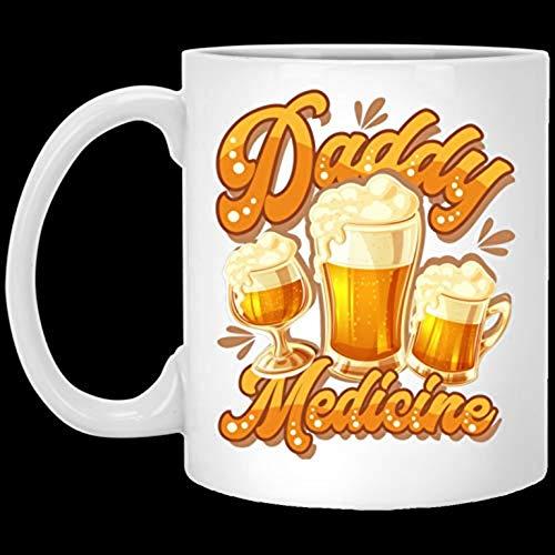 Funny Halloween Christmas Coffee Mug Daddy's Medicine Ceramic Coffee Mugg 11oz TTNNQB