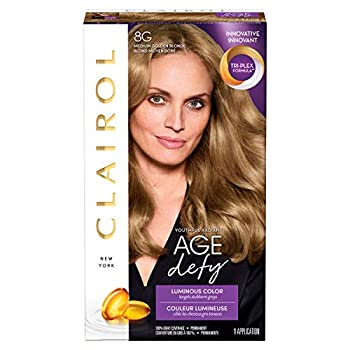 Clairol Age Defy Permanent Hair Color 8G Medium Golden Blonde 1 Count