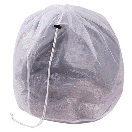 Hengsong Kleider Unterwäsche Socken Mesh Wäschebeutel Wäschesäcke Wäschenetz mit Zugkordel für die Waschmaschine (XL, Fine mesh)
