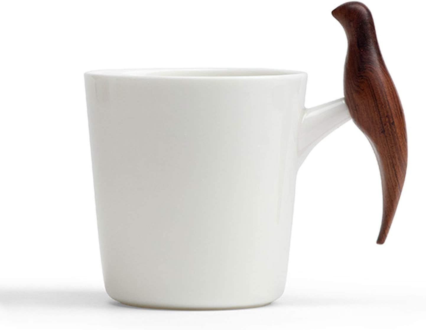 Coffee cup Novelty White Ceramic Mug Bird-shaped Woo with Seattle Mall Oakland Mall