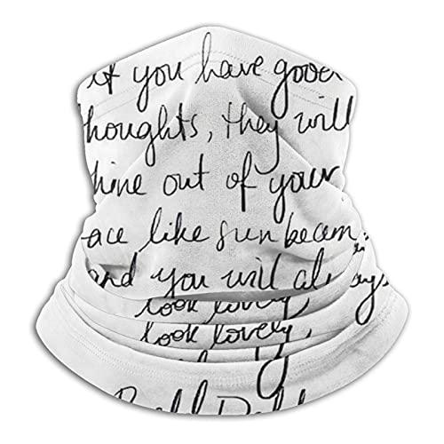 ewretery Roald Dahl Inspirational Tumblr Cita Merch! 01 - Máscara facial para polvo, al aire libre, festivales, deportes