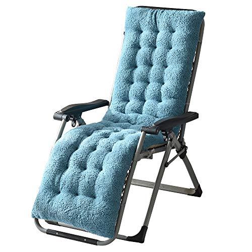 Boshen - Cojín de lana de oveja artificial para silla de salón con relleno de algodón (azul claro, 160 x 50 cm)