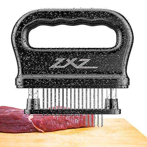 ZXZ Meat Tenderizer, 48 Stainless Steel Sharp Needle Blade, Heavy Duty Cooking Tool for Tenderizing...